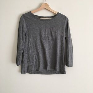 COS Long -Sleeve T-Shirt Top Heather Grey